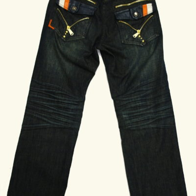 Crown Holder Jean HR50752 Color: Dark Indigo / Navy Orange