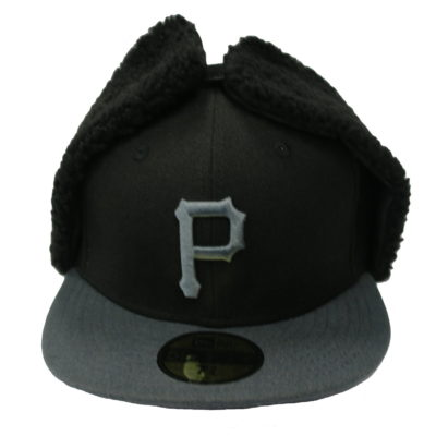 New Era 59 Fifty / Big Print Pitsburgh Pirates / Dog Ear Cap / Color: Black,Grey