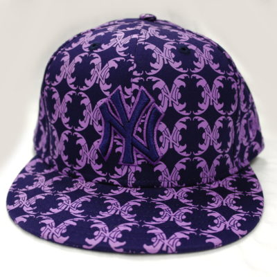 New Era 59 Fifty All Ten NY Yankees Color: Purple & Light Purple Sceen Print