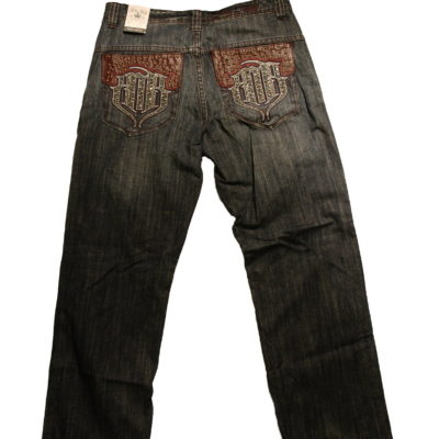Pelle Pelle MB Studded Pocket Jean / Color:Blue Raw SB
