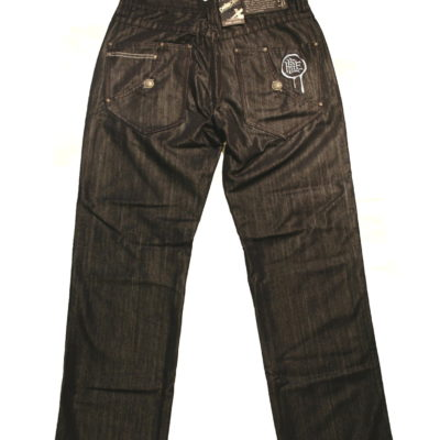 Pelle Pelle Stamp Drip Embroidered Pocket Jean / Color: Metallic Dark Streak
