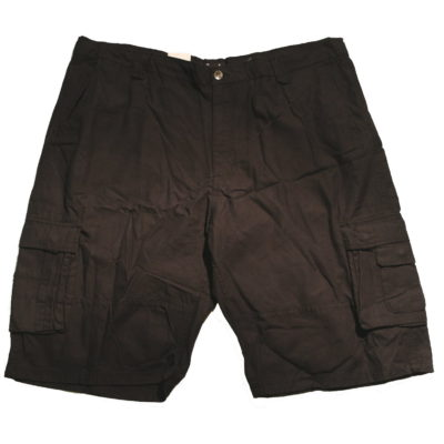 Pelle Pelle Big & Tall Cargo Shorts / Color: Black