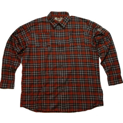 Pelle Pelle Long Sleeve Flannel Button Up Shirt / Color: Espresso