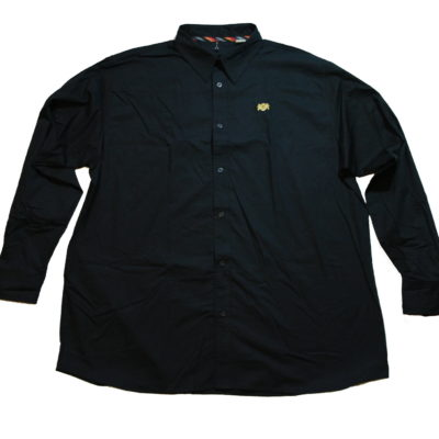 Pelle Pelle Long Sleeve Button Up Shirt / Color: Black