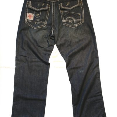 Pelle Pelle Flap Pocket Distressed Jean / Color: Indigo Blast
