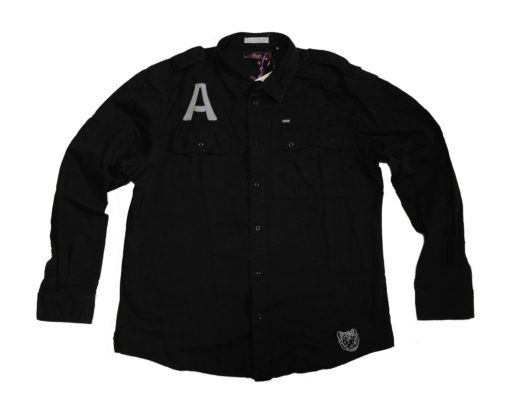 Akoo Long Sleeve button up / Color: Black