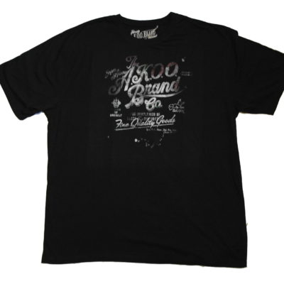 Akoo Brand Tee / Color: Black