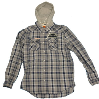 Rolling Papers / Removable Hood, Long Sleeve Button up Shirt ROS2101