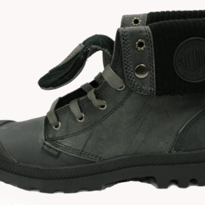 Palladium Boot / Baggy Leather Knit / Grey Black