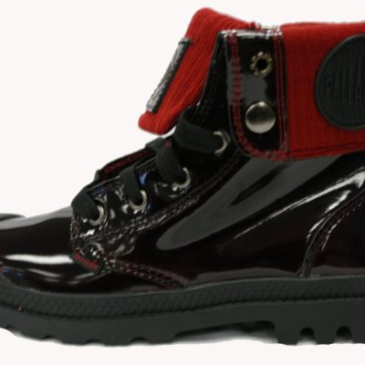 Palladium Boot / Womans Baggy Leather Knit / Midnight Red