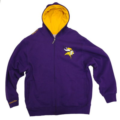 Mitchell & Ness Vikings Thermal Lined Full Zip Hoody