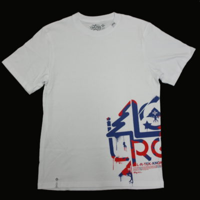 LRG Stencil Tech Print Tee / Color: White Blue Red