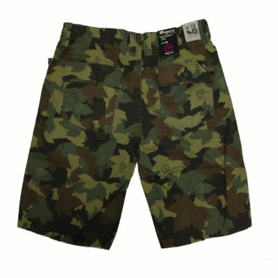 LRG Children Vision Camo Short / Cut off Frayed Bottoms / Color: Olive Camo