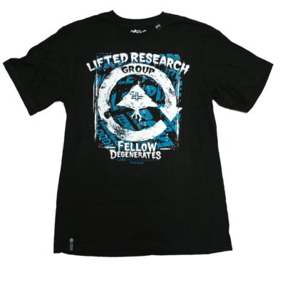 LRG Scratch & Stained Cycle Print Tee / Color: Black Aqua