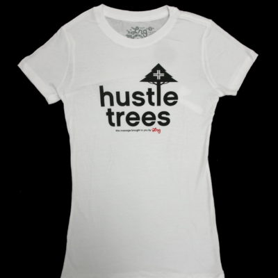 Ladies LRG Hustle Trees Print Tee / Color: White