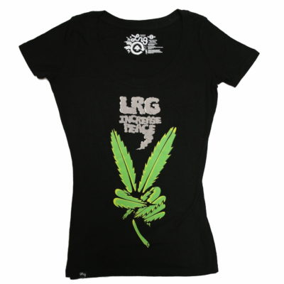 Ladies LRG Increase Peace Print Tee / Color: Black