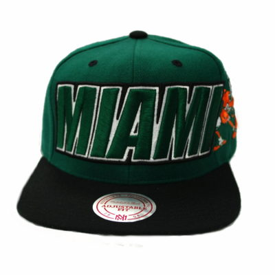 Mitchell & Ness Miami Hurricanes Snapback Cap / Color: Team