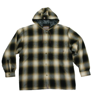 Dyse One Flannel Jacket / Quilt Lined / Snap Buttons / Color: Brown