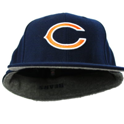 Reebok NFL Chicago Bears Back Flip Down fitted Cap / Color: Navy