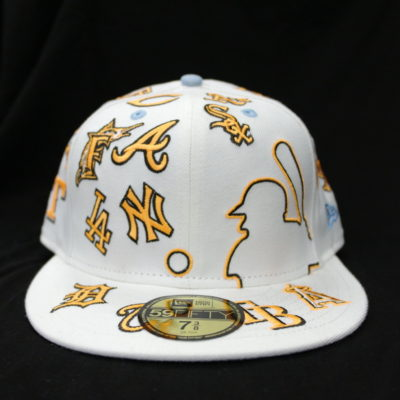 New Era 59 Fifty Team All Over Fitted Cap / Color: Off White