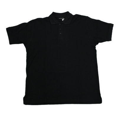 Plain Polo Shirt / Color: Black