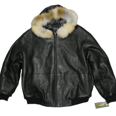 Pelle Pelle Leather 2171 Emboss Fur Hood / Color: Black Florentine