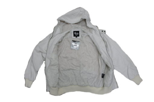 7th 38  Vecta Perforated PU Zip-Up Jacket with Hood / Color: White