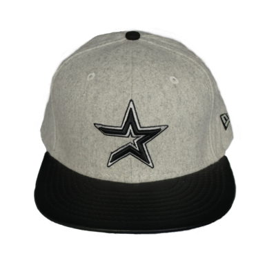 Mellet Leather Brim / Houston Astros / New Era Fitted Cap / Color:Gray Black