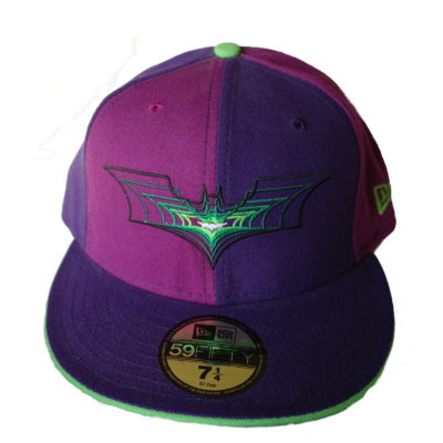 New Era 59 Fifty Batman Fitted Cap / Color: Purple / Lime