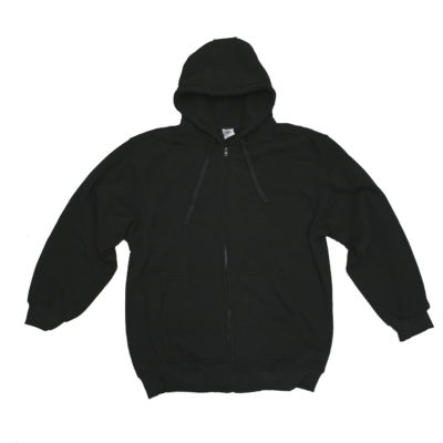 Beyond the Limit Plain Zip-Up Hoody / Color: Black