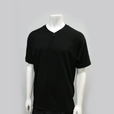 Gemrock Plain V-Neck Tee Color: Black