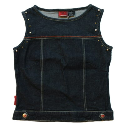 Flame By Johnny Blaze Women's Denim Vest