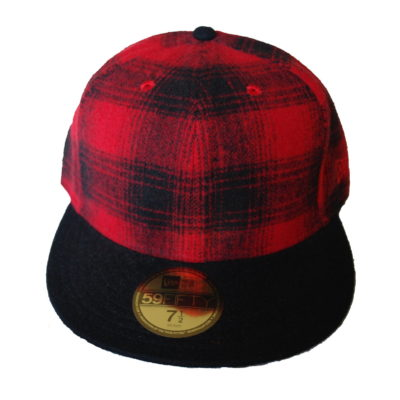 New Era 59 Fifty Flannel Plaid Fitted Cap / Color: Red / Black