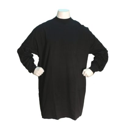 Big and Tall Long Sleeve Plain Tee / Color: Black