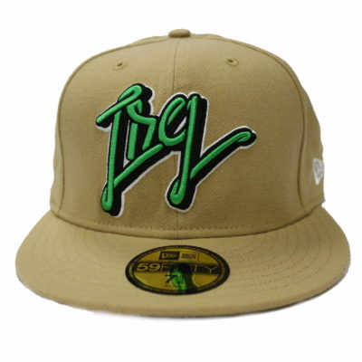LRG New Era 59 Fifty Fitted Cap / Color: Khaki Lime / 70{c4ae88d569b09b40227cc1fe870a022cebf5f1a11288888901ac9ea6adb60a06} Acrylic 30{c4ae88d569b09b40227cc1fe870a022cebf5f1a11288888901ac9ea6adb60a06} Cotton  / Made in China / E107136