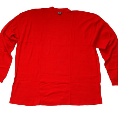 Light Weight Big & Tall 5XL Long Sleeve Thermo Shirt / Color: Red