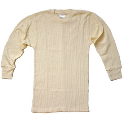 Thermal Long Sleeve Under Shirt / Color: Natural / United U.S.A. Brand