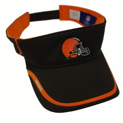 Clevland Browns Reebok NFL Visor / Velcro Strap / Embroidered logos / Color: Brown Orange