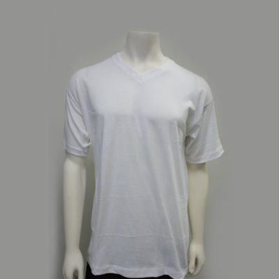 Gemrock Plain V-Neck Tee Color: White